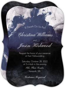 Dark Water Ink Wedding Invitation