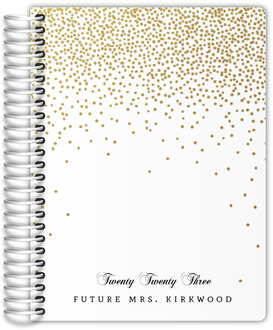 Golden Faux Glitter Confetti Wedding Planner