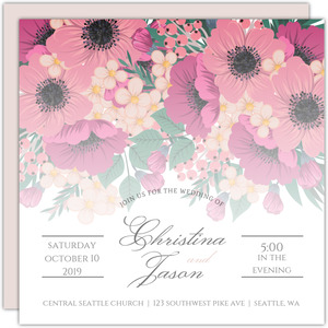 Black and White Elegant Wedding Invitation