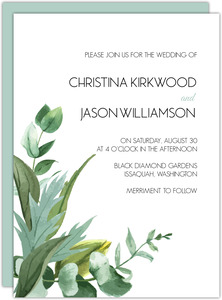 Modern Greenery Decor Wedding Invitation