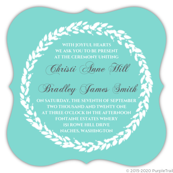 Classic Tiffany Blue Wedding Invitation Elegant Wedding Invitations