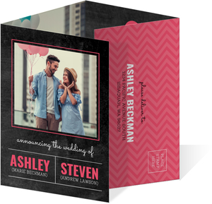 Modern Chalkboard Quadfold Wedding Invitation