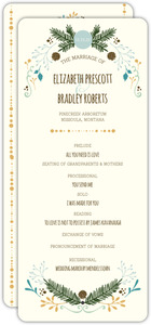 Whimsical Woodland Foliage Wedding Program