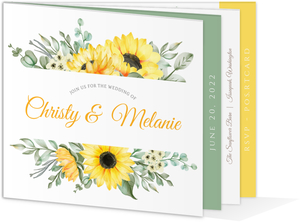 Sunflower Booklet Wedding Invitation