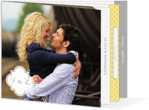 Yellow and Gray Pattern  Wedding Program