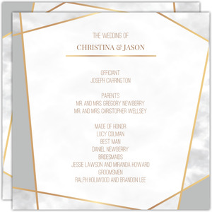 Modern Geometric Frame Wedding Program