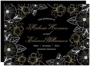 Elegant Floral Decor Wedding Program