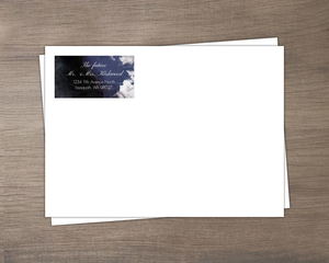 Dark Water Ink Custom Envelope