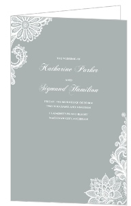 White Lace Wedding Invitation  Wedding Program