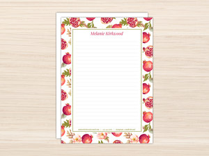 Beautiful Pomegranate Letter Writing Paper