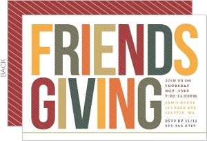 Fall Colors Friends Thanksgiving Party Invitation