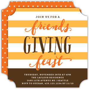 Bold Stripe Friendsgiving Feast Invitation