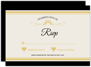 Elegant Bottle Winery Wedding Response Card