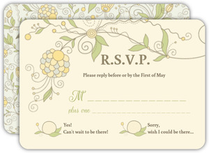 Beautiful Floral Pattern Wedding Response Card