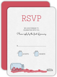 Romantic and Rustic Love Jar Wedding Response Card
