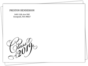 Nice Typography Class of 2019 Envelope