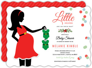 Santa's Little Helper Baby Shower Invitation