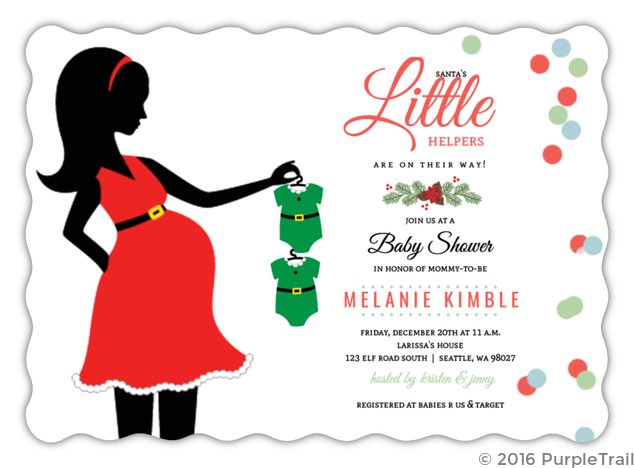 Santas little helper baby shower invitation christmas baby shower santas little helper baby shower invitation filmwisefo Choice Image