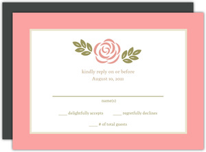 Floral Garden Monogram Wedding Response Card