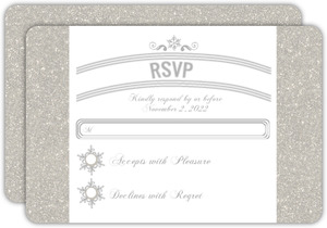 Glitter Wonderland Wedding Response Card