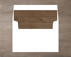 Simple Dark Woodgrain Envelope Liner