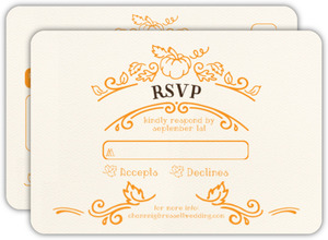 Rustic Pumpkin Wedding Response Card
