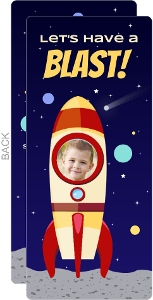 Rocket Ship Space Birthday Party Invitation