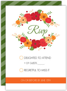 Modern Colorful Flowers Response Card