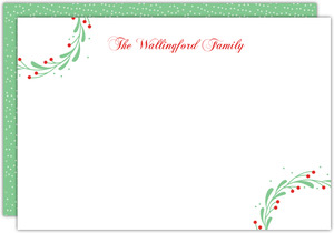 Whimsical Mistletoe Wreath Notecard