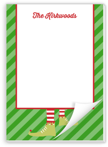 Happy Elf Holiday Notepad