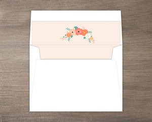 Pale Pink Country Floral Envelope Liner