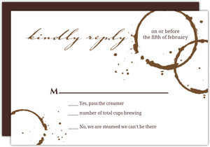 Brown Coffee Perfect Blend Wedding Response Card