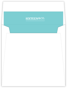 Elegant Blue Sweet Sixteen Birthday Envelope Liner