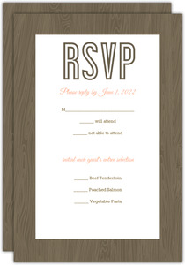 Wood Grain Rustic  Response Card