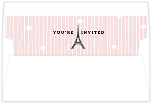 Whimsical Eiffel Tower Sweet Sixteen Invite Liner