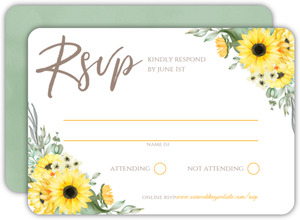 Sunflower Wedding Response Card