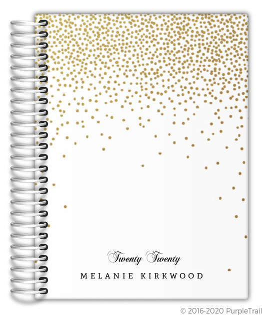 Golden Faux Glitter Confetti Mom Planner