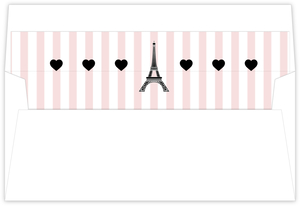 Whimsical Eiffel Tower Envelope Liner