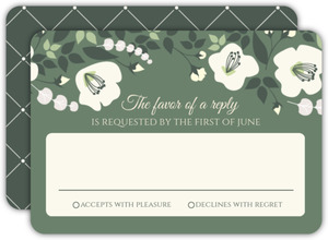 Eucalyptus Garland Wedding Response Card