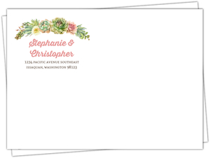 Whimsical Succulents Custom Envelope