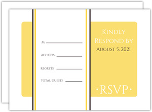 Classic Pale Yellow  Wedding RSVP Card