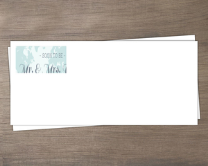 Tropical Destination Boarding Pass Wedding Envelope