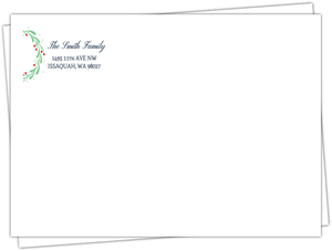 Whimsical Mistletoe Wreath Custom Envelope