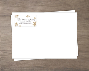 Snowflake Lantern Holiday Custom Envelope