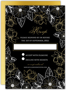Elegant Floral Decor Wedding Response Card
