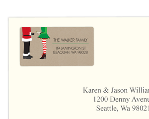Santa & Elf Holiday Address Label