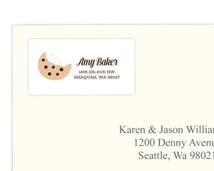 Cookie Bite Address Label
