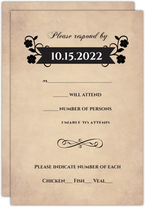 Day of the Dead Skulls  Halloween Wedding Response Card