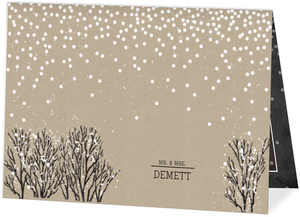 Rustic Krafty Winter Wedding Thank You Card