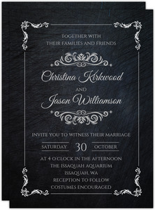 Gothic Elegant Wedding Invitation